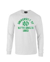 SDI NCAA North Dakota Mascot Block Arch Sleeve T Shirt - White - Size: S