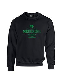 NCAA North Dakota Stacked Vintage Crew Neck Sweatshirt, X-Large, Black