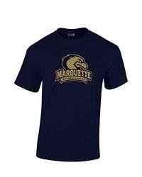 NCAA Marquette Golden Eagles Mascot Foil Short Sleeve Tee, XX-Large, Navy