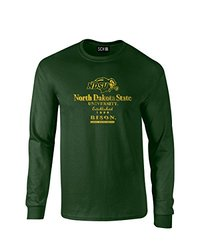 NCAA North Dakota State Stacked Vintage Long Sleeve T-Shirt, Medium, Forest