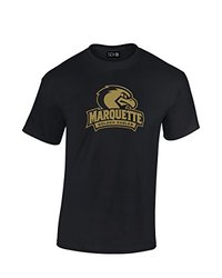 NCAA Marquette Golden Eagles Mascot Foil Short Sleeve Tee, XX-Large, Black
