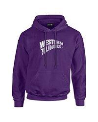 NCAA Western Illinois Leathernecks Mascot Foil Long Sleeve Hoodie, Large, Purple