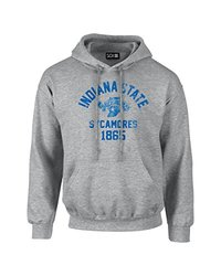 NCAA Indiana State Sycamores Mascot Block Arch Long Sleeve Hoodie, XX-Large, Sport Grey