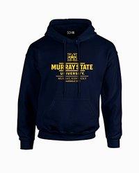 NCAA Murray State Racers Classic Seal Long Sleeve Hoodie, Medium, Navy