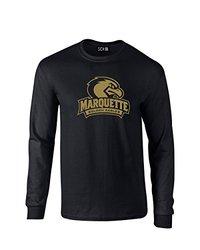 NCAA Marquette Golden Eagles Mascot Foil Long Sleeve T-Shirt, Small, Black