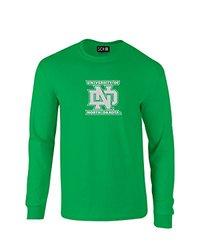 NCAA North Dakota Mascot Foil Long Sleeve T-Shirt, XX-Large, Irish Green