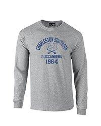 NCAA Charleston Southern Buccaneers Mascot Block Arch Long Sleeve T-Shirt, Small, Sport Grey