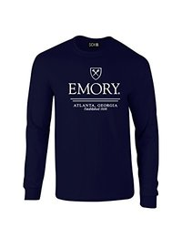 NCAA Emory Eagles Classic Seal Long Sleeve T-Shirt, Large, Navy