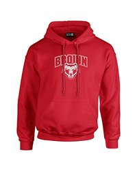 NCAA Brown Bears Mascot Foil Long Sleeve Hoodie, XX-Large, Red
