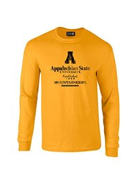 NCAA Appalachian State Mountaineers Stacked Vintage Long Sleeve T-Shirt, Large, Gold