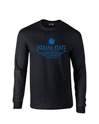 NCAA Indiana State Sycamores Classic Seal Long Sleeve T-Shirt, Medium, Black