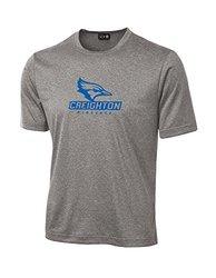 NCAA Creighton Bluejays School Standard Mascot Tech Performance T-Shirt, Large, Sport Grey