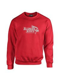 NCAA Illinois State Redbirds Mascot Foil Crew Neck Sweatshirt, Small, Red