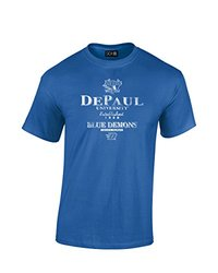 SDI NCAA Depaul Blue Demons Stacked Vintage T-Shirt - Royal - Size: S