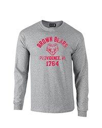 SDI NCAA Brown Bears Mascot Block Arch Men's T-Shirt - S Grey - Size: L