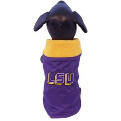 NCAA Louisiana State Fightin Tigers All Weather Resistant Protective Dog Outerwear, Tiny