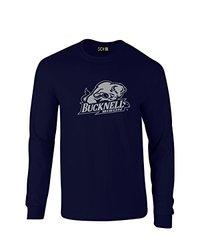 NCAA Bucknell Bison Mascot Foil Long Sleeve T-Shirt, Medium, Navy
