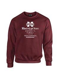 NCAA Mississippi State Bulldogs Stacked Vintage Crew Neck Sweatshirt, X-Large, Maroon