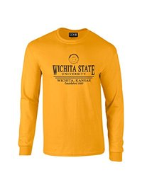 NCAA Wichita State Shockers Classic Seal Long Sleeve T-Shirt, Small, Gold