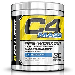 Cellucor C4 Mass Pre-Workout Explosive Energy & Mass Builder Icy Blue Razz (35.97 oz) (Discontinued Item) 1020 g