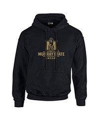 NCAA Murray State Racers Mascot Foil Long Sleeve Hoodie, Large, Black