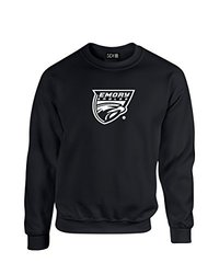 NCAA Emory Eagles Mascot Foil Crew Neck Sweatshirt, X-Large, Black