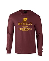 NCAA Central Michigan Chippewas Stacked Vintage Long Sleeve T-Shirt, Small, Maroon