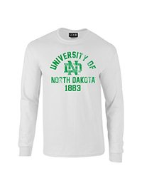 NCAA North Dakota Mascot Block Arch Long Sleeve T-Shirt, Medium, White