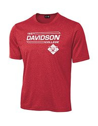 NCAA Davidson Wildcats University Tech Performance T-Shirt, XX-Large, Red