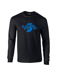 NCAA Indiana State Sycamores Mascot Foil Long Sleeve T-Shirt, Small, Black