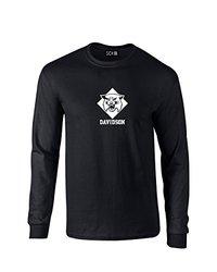 NCAA Davidson Wildcats Mascot Foil Long Sleeve T-Shirt, Medium, Black