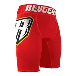 Revgear Staredown Pro II Vale Tudo Fight Shorts, Red, Medium