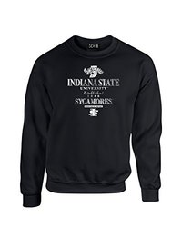 NCAA Indiana State Sycamores Stacked Vintage Crew Neck Sweatshirt, X-Large, Black