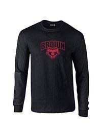 NCAA Brown Bears Mascot Foil Long Sleeve T-Shirt, Medium, Black