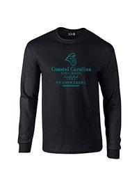 NCAA Coastal Carolina Chanticleers Stacked Vintage Long Sleeve T-Shirt, Small, Black