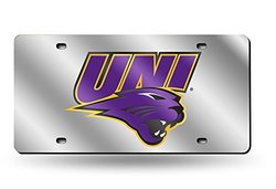 NCAA Northern Iowa Panthers Laser Cut License Plate, Silver