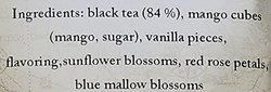 ESP Tea Emporium Butterflies in The Tummy Black Tea Mango/Vanilla - 1.76oz