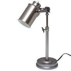Light Accents Antique Style Metal Desk Lamp, Desk Light (Aged Pewter)
