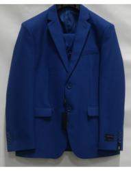Braveman Men's 3-Piece Slim Fit Suits - Indigo - 40S x 34W
