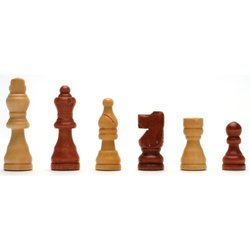 French Staunton Wood Chessmen with 2.5 in. King