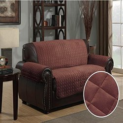 Furniture Protector Pet Cover Quilted Microsuede Loveseat 70 x 120 - Brown