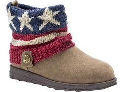Muk Luks Women's Patti Americana Winter Boot - Dark Red - Size: 7
