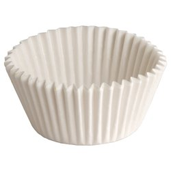 Hoffmaster White Dry Waby Fluted Paper Bake Cup - Case of 20/ 500 each