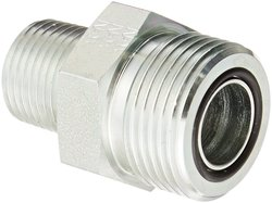 "Aeroquip 3/4"" O-Ring Face Seal Male x 1/2"" NPTF Male Steel Pipe Fitting"