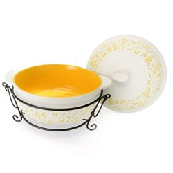 Cook's Companion Four-Piece Ceramic Oven-to-Table Casserole Set - Yellow