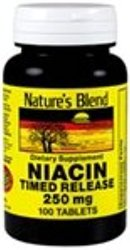 Nature's Blend Niacin Timed Release 250 mg 250 mg 100 Tabs