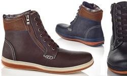 Henry Ferrara Carlos Men's Lace-Up Boots - Black - Size: 9