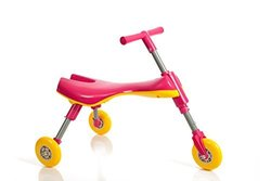 My First High Bounce 3 Wheel Folding SmartBug Scooter (Hot Pink)