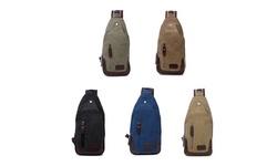 Tagco Women's Canvas Shoulder Sling Bag - Khaki - Size: One Size