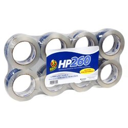 8-pack Hp260 High Performance 3.1 Mil Packaging Tape - Clear  (DUC0007424)